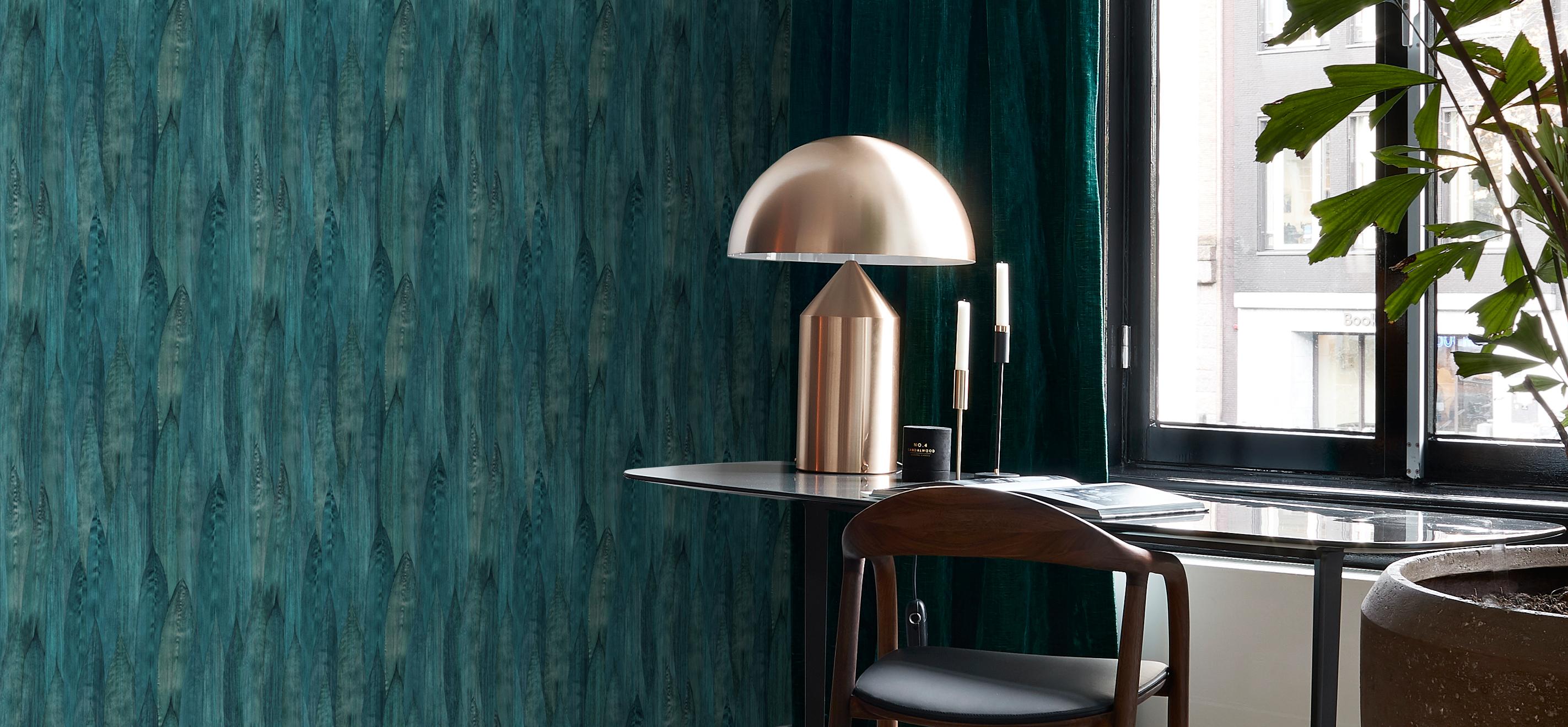 Chambre Ado Avec Papier Peint Brique papier peint bleu - bureau | papier peint nº 1