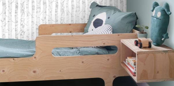 papier peint forêt pour la chambre d'enfant