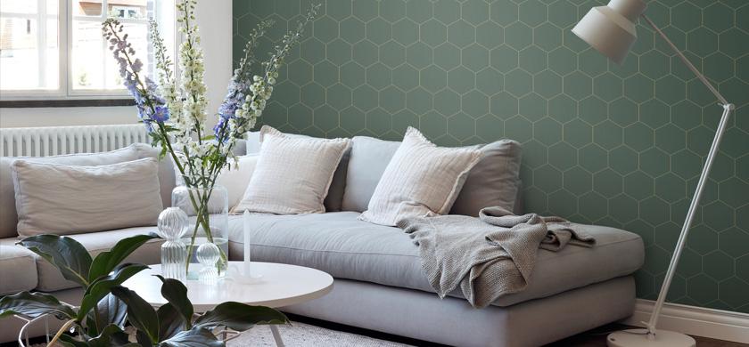papier peint hexagone