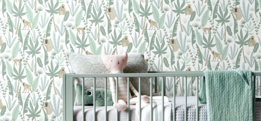 papier peint jungle pour la chambre d'enfant
