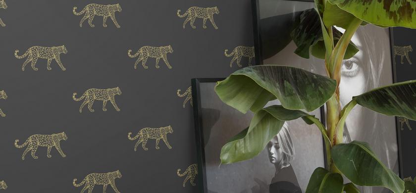papier peint léopard