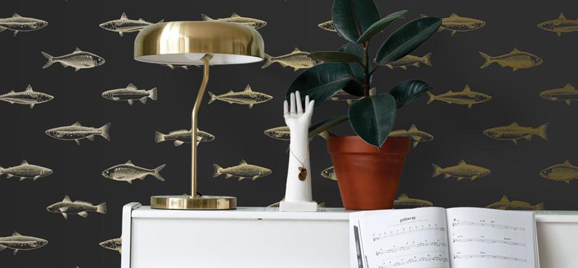papier peint poisson