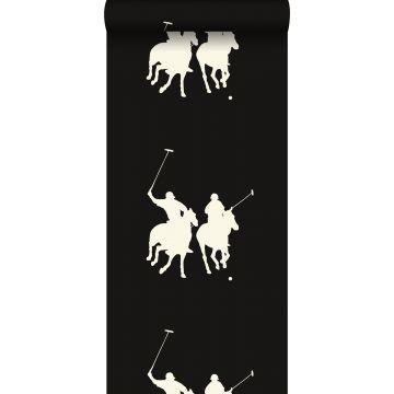 papier peint joueurs de polo brun foncé de ESTA home