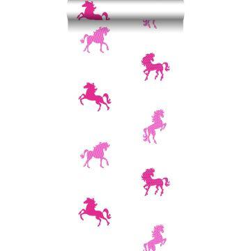 papier peint cheveaux rose de ESTA home
