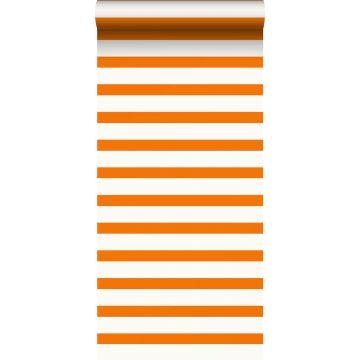 papier peint à rayures orange et blanc de ESTA home