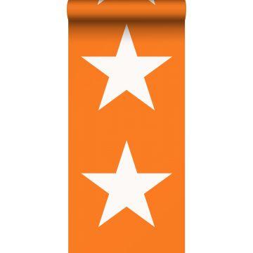 papier peint étoiles orange et blanc de ESTA home