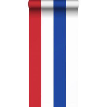 papier peint à rayures rouge, blanc et bleu de ESTA home