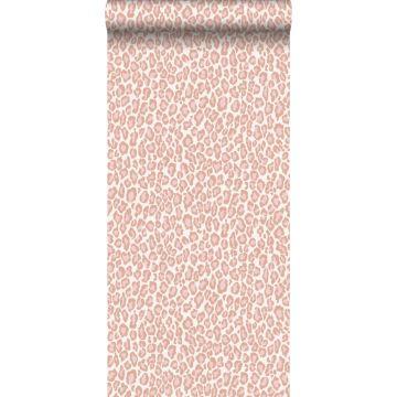 papier peint peau de léopard rose pêche de ESTA home