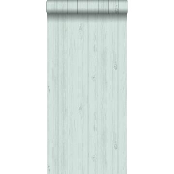 papier peint imitation bois vert menthe pastel clair grisé de ESTA home