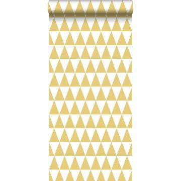 papier peint triangles graphiques jaune ocre de ESTA home