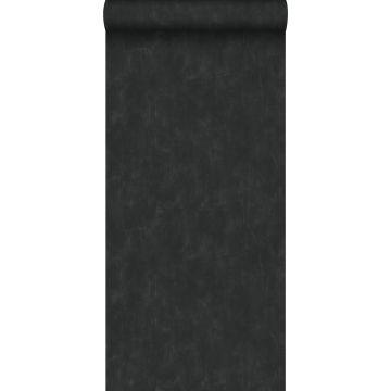 papier peint uni à effet pictural noir de ESTA home