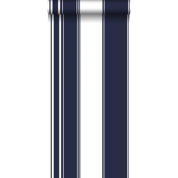papier peint à rayures bleu marine de ESTA home