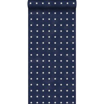 papier peint étoiles bleu marine de ESTA home