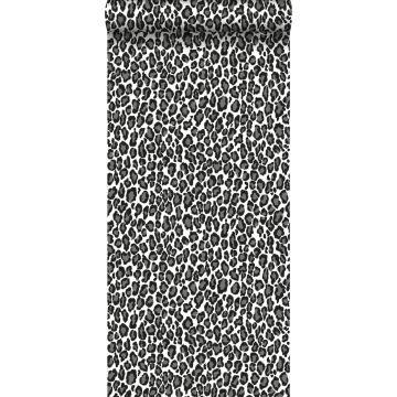 papier peint léopards noir et blanc de ESTA home