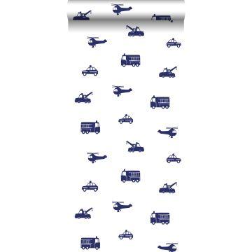 papier peint voitures bleu de ESTA home
