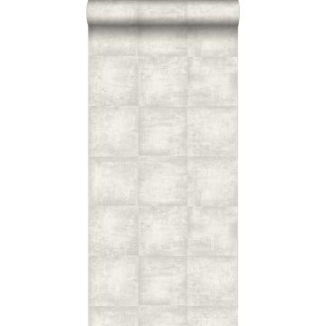 papier peint effet béton gris clair de ESTA home