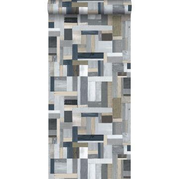 papier peint imitation bois gris de ESTA home