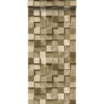 papier peint imitation bois en 3D cervine de ESTA home