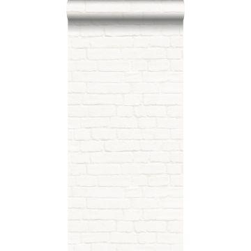 papier peint brique blanc cassé de ESTA home