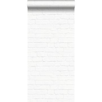 papier peint brique blanc de ESTA home