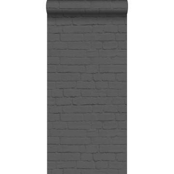 papier peint brique noir de ESTA home