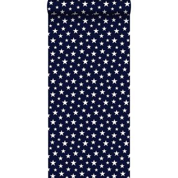 papier peint petites étoiles bleu foncé de ESTA home