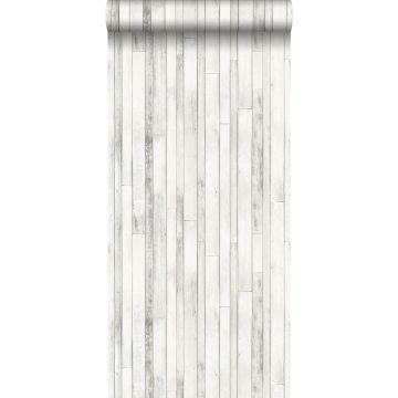 papier peint imitation bois vieux blanc de ESTA home