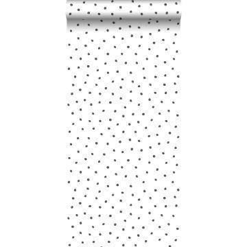 papier peint à motif de points noir et blanc de ESTA home