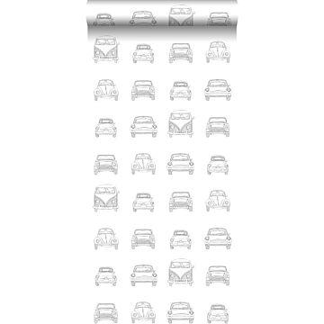 papier peint voitures anciennes noir et blanc de ESTA home