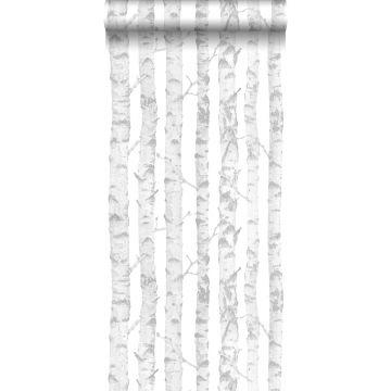 papier peint troncs de bouleau argent et blanc de ESTA home