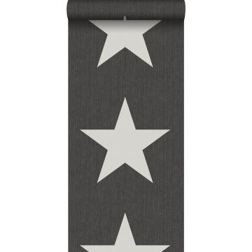 papier peint étoiles sur le tissu de jeans en denim gris foncé de ESTA home