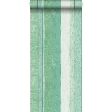 papier peint imitation bois vert de ESTA home