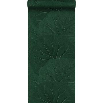papier peint grandes feuilles vert émeraude de ESTA home