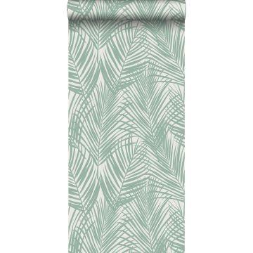 papier peint feuilles de palmier vert menthe de ESTA home