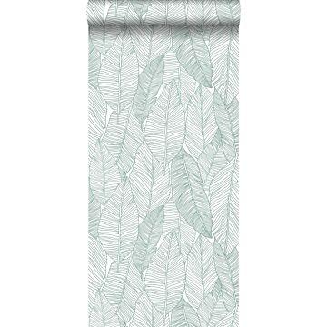 papier peint feuilles dessinées vert de ESTA home