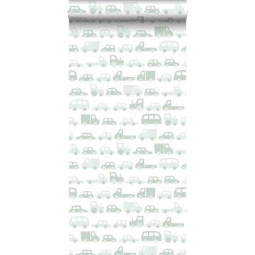 papier peint voitures vert menthe grisé de ESTA home