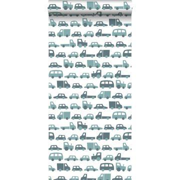 papier peint voitures bleu gris de ESTA home