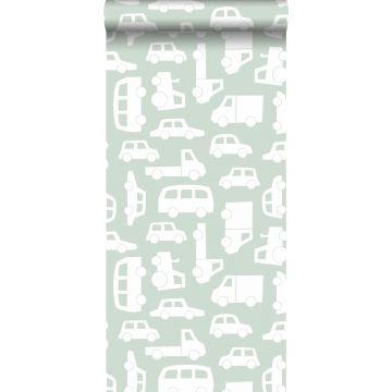 papier peint voitures vert menthe de ESTA home