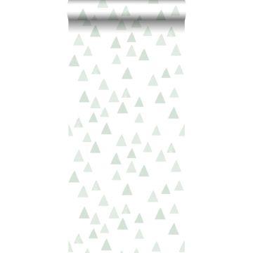 papier peint triangles graphiques vert menthe de ESTA home