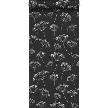 papier peint ombelles noir et blanc de ESTA home