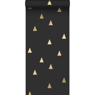 papier peint triangles graphiques noir et or de ESTA home