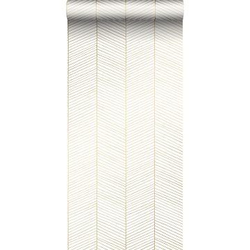 papier peint chevron blanc et or de ESTA home