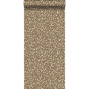 papier peint peau de léopard marron de ESTA home