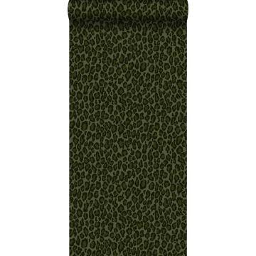 papier peint peau de léopard vert foncé de ESTA home