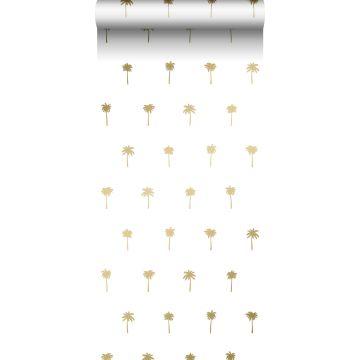 papier peint palmiers blanc et or de ESTA home