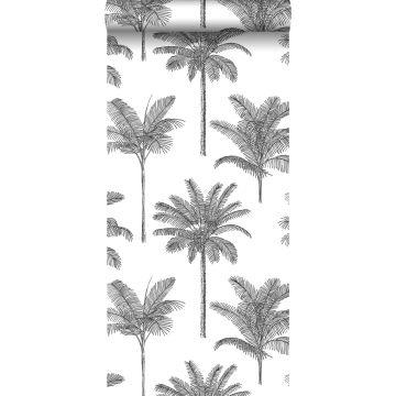 papier peint palmiers noir et blanc de ESTA home