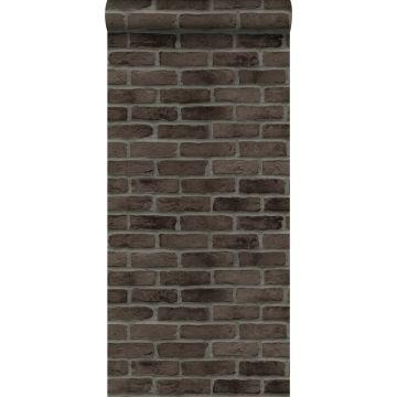 papier peint brique brun foncé de ESTA home
