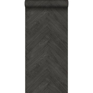 papier peint imitation bois gris foncé de ESTA home