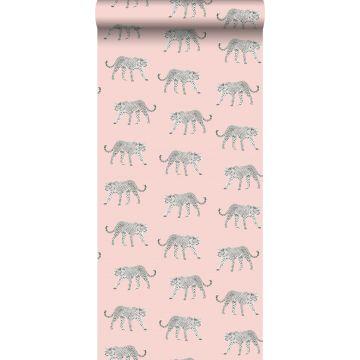 papier peint léopards rose clair de ESTA home