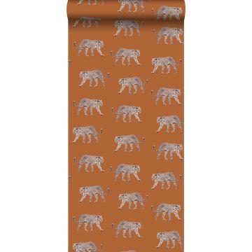 papier peint léopards orange chaude de ESTA home
